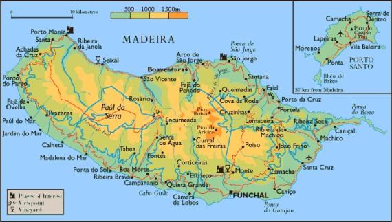 madeira térkép Madeira térképe   Travelon.hu madeira térkép
